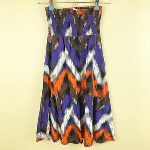 H&M strapless Aztec design dress